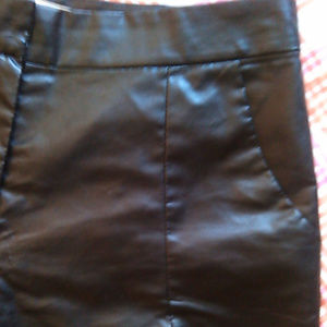 Cotton Candy Shorts - Womans Sexy Black Pleather Shorts, NWOT